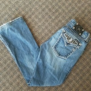 Buckle Miss Me Signature Boot Cut Jeans Denim EUC